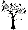 spooky tree vector image