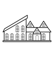 Stylish house icon outline style vector image vector image