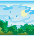 summer landscape with birds vector image vector image