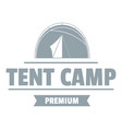 tent camp logo vintage style vector image