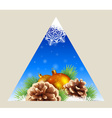 Triangular winter background vector image vector image