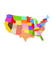 united states of america map usa colorful vector image