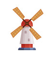 windmill traditional rural building cartoon vector image vector image