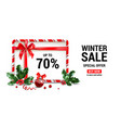 winter sale frame vector image vector image