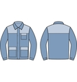 Work jacket Front and back vector image vector image