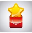 yellow star icon vector image