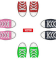top view of colored sneakers vector image