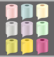colorful paper roll set vector image