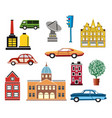 a set urban objects vector image