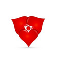abstract love heart group shape icon vector image vector image