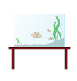 aquarium on the table with exotic fish vector image