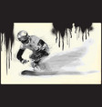 athletes with physical disabilities - snowboard vector image vector image