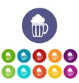 Beer set icons vector image vector image