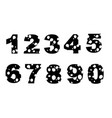 black silhouette set numbers style cartoon food vector image vector image