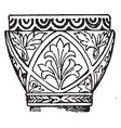 byzantine capital trapeziform vintage engraving vector image vector image