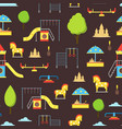 cartoon playground element seamless pattern vector image vector image