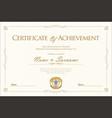 certificate retro vintage design 3 vector image vector image