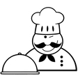 Chef cartoon icon vector image
