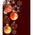 christmas background with balls and snowflakes vector image
