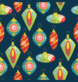 christmas decorations hand-drawn with christmas vector image