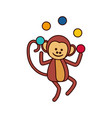 circus monley cartoon vector image vector image