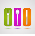 colorful cutlery icon