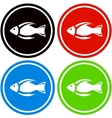 colorful fish icon vector image