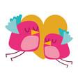 cute flying birds heart in love romance vector image vector image