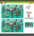 differences game with pirate characters vector image vector image