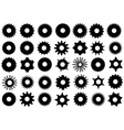 Different Gear Shapes vector image vector image
