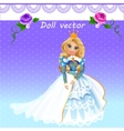 doll queen in ceremonial dress vector image vector image