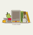 e-book reader and modern education by technology vector image vector image