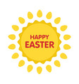 easter eggs label flat style vector image vector image