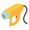electric dryer icon isometric 3d style vector image vector image