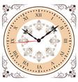 elegant roman numeral clock vector image
