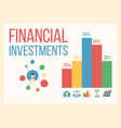 financial and money business growth banner vector image