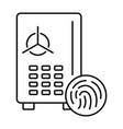 fingerprint money safe icon outline style vector image vector image