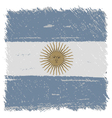 Flag of Argentina handmade square shape vector image vector image