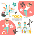 flat yoga and harmony poster vector image vector image