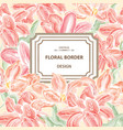 floral background flower bouquet cover flourish vector image