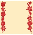 Frame frome red flowers vector image vector image