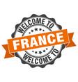 france round ribbon seal vector image vector image