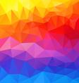 full spectrum horizontal polygon triangular vector image vector image