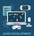 Game development vector image vector image