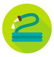 Garden Watering Hose Circle Icon vector image vector image