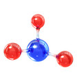 glass molecule model reflective and refractive vector image vector image