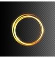 Gold glittering light frame vector image vector image