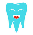 healthy tooth icon flat style vector image vector image