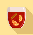hot mulled wine icon flat style vector image
