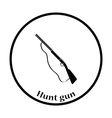 Hunt gun icon vector image vector image